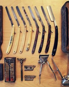 old school barber razors